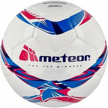 Piłka nożna Meteor 360 Shiny biała MS 00070