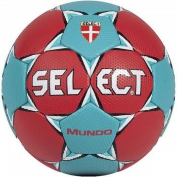 Piłka ręczna SELECT Mundo 3 czerwono-turkusowa