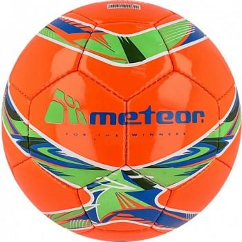 Piłka nożna Meteor 360 Shiny czerwona HS 00066