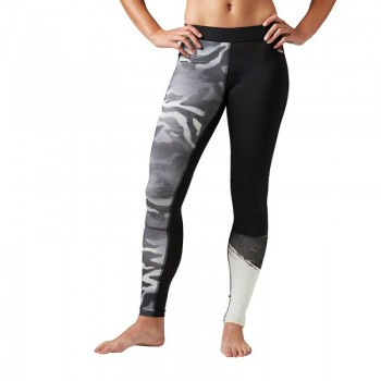 Spodnie legginsy Reebok Camo Compression Tight W BK3142
